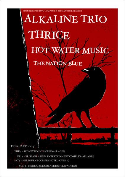 Alkaline Trio - Australian Tour Poster