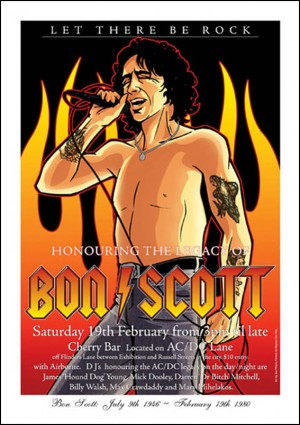 Bon Scott Tribute Concert Poster