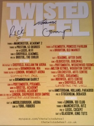 Twisted Wheel Signed U.K Tour Poster