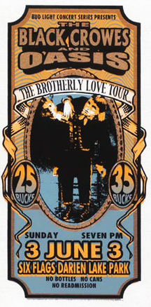 Black Crowes and Oasis, Brotherly Love Tour