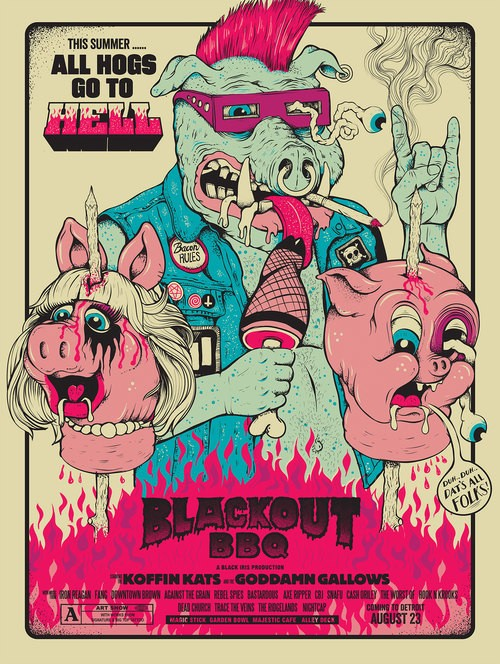 Blackout BBQ Poster By Lurk And Destroy