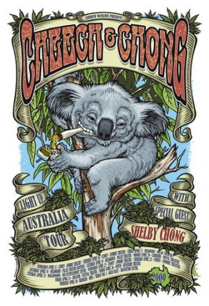 Cheech And Chong Australian Tour Poster 2009
