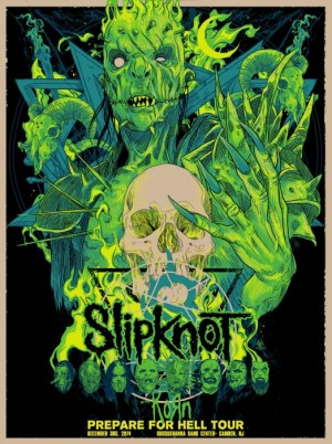 Slipknot Prepare For Hell Tour 2014 Green Edition